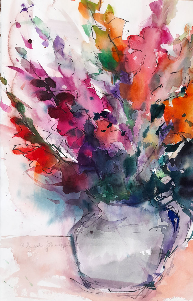 Aquarell-Bild – Birgit Schwartz-Glonnegger, Freischaffende Künstlerin